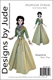 Outlander Scottish Claire Doll Clothes Sewing Pattern for 22' American Model Dolls