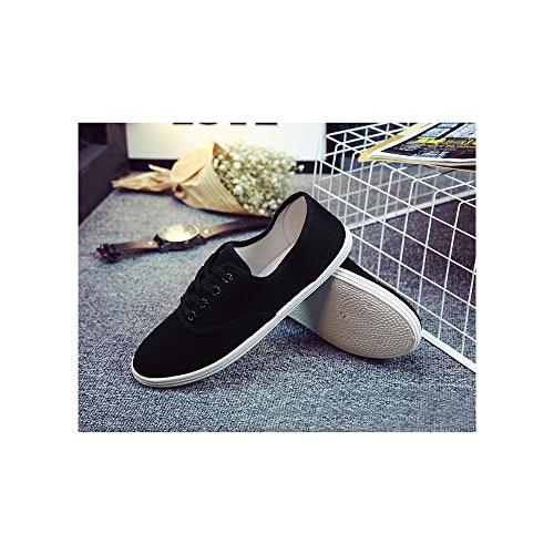 De Toile Mode Léger Tennis Sport Ochenta Basse Sneakers En Femme Baskets Chaussure Noir 8pBRnwq1n