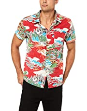 Wrangler Men's Lake of Fire Ss Shirt, Washed Red
