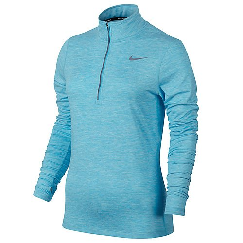 Nike Top Half Femme Longues vivid Zip sky htr Manches Element Bleu aqrTHa