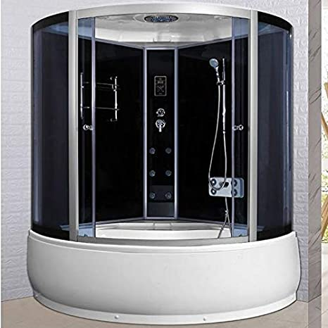 Cabina de ducha con bañera de 6 chorros de hidromasaje 150 x 150 ...