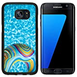Liili Premium Samsung Galaxy S7 Edge Aluminum Backplate Bumper Snap Case IMAGE ID 32656546 Colorful pool float in blue swimming basin