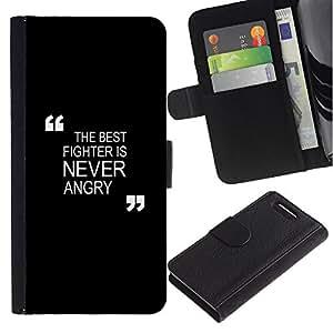 iBinBang / Flip Funda de Cuero Case Cover - Combate de boxeo Zen - Sony Xperia Z1 Compact D5503