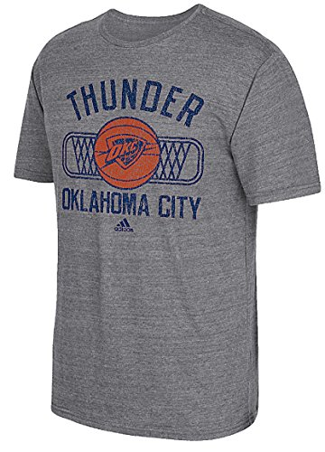 Oklahoma City Thunder Mens Slimmer Fit Grey Athletic Dept Blended T Shirt ()