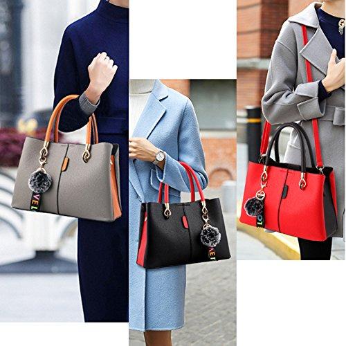 Messenger Cosmetici Moda Da Flht Quadrata Donna Grey A Tracolla Per In Pelle Borsa BzOqv