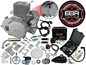 10. BBR Tuning 66/80cc Bullet Train Electric Start Bicycle Engine Kit - 2 Stroke Gas Powered Bike Motor Engine