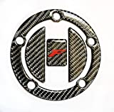 RZ Moto Fit Suzuki GSX-F GSXF 650 1000 1250FA CARBON FIBER Tank Cap Filler Cover Sticker Trim pad protector