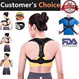 Kyпить Posture Corrector For Women And Men - Free Neck Brace,Brace Thoracic Kyphosis,Adjustable Correct Brace,Shoulder Brace,Lower And Upper Back Pain Relief,COMFORTABLE EASY TO WEAR на Amazon.com