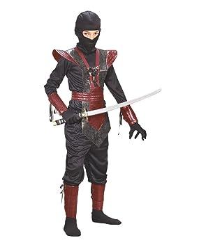 Ninja Fighter Niños Traje Negro-Rojo L: Amazon.es: Juguetes ...