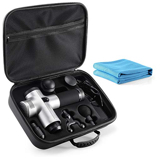 Carrying Case for Hyperice Hypervolt, 2020 5 Attachment Slots Portable Storage Box, Hard Shell Case for Hyperice Hypervolt Portable Massage Gun tombert (Case Only)