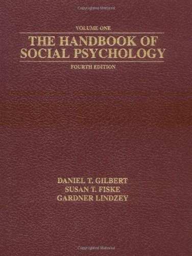 The Handbook of Social Psychology, Fourth Edition (2 Volume Set)