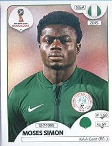 2018 Panini FIFA World Cup Stickers #348 Moses Simon Nigeria