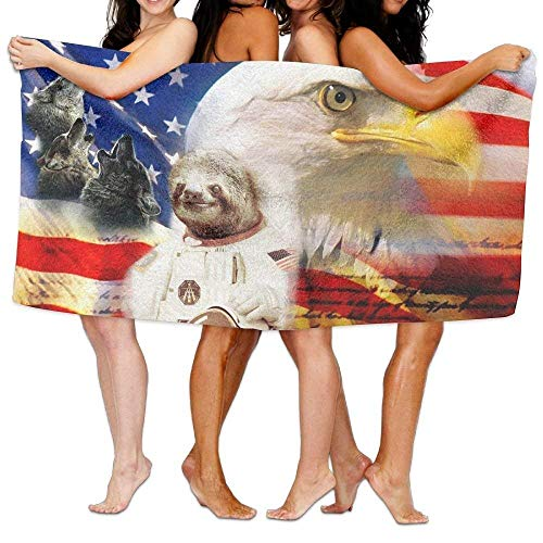 I Like Exercise Turkish Towel, Funny Sloth Eagle Wolf USA Flag, Super Soft Ultra Absorbent Bath Towel Beach Towels for Men, Bath Set Bathroom (Eagles Paper Clip Holder)