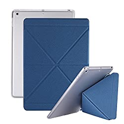 iPad 2017 9.7 inch - Martin Jerry Case Ultra Slim Lightweight Smart Stand Cover with Translucent Frosted Back Protector for ipad 2017 version 9.7 inch Retina(Blue)