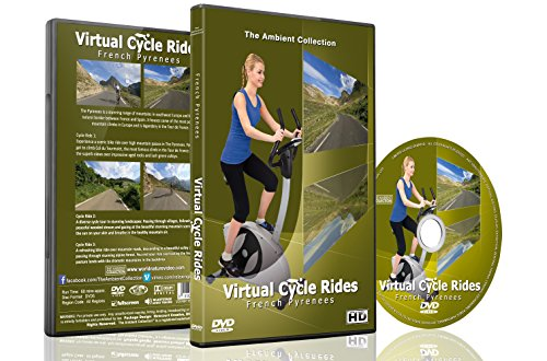 Virtual Cycle Rides - French Pyrenees - For Indoor Cycling, Treadmill and Running - Coach Repair Sunglass