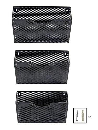 EasyPAG 3 Pocket Wall File Holder Organizer,Black by EasyPag