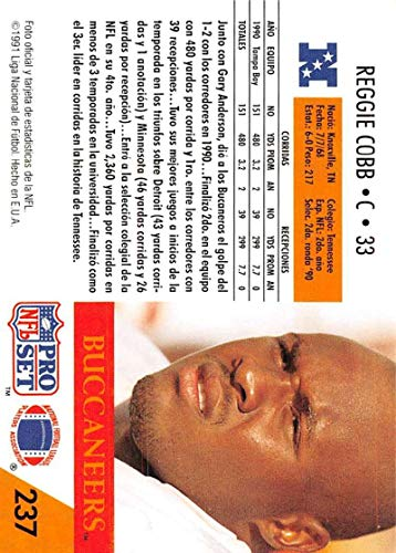 Amazon.com: 1991 Pro Set Spanish Football #237 Reggie Cobb ...