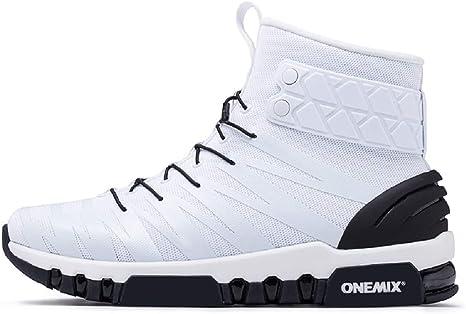 DDSHYNC Botas para Hombres Zapatillas Deportivas para Hombre High Top Light Crosser Fitness Zapatillas Deportivas para Correr al Aire Libre Zapatillas cómodas,White,EUR43: Amazon.es: Deportes y aire libre