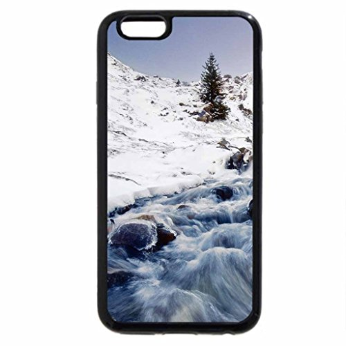 iPhone 6S Case, iPhone 6 Case (Black & White) - magnificent mountain steam in winter