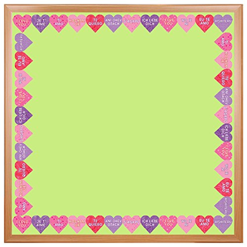 Hygloss Products International I Love You Die-Cut Bulletin Board Border - Classroom Decoration - 3 x 36 Inch, 12 Pack