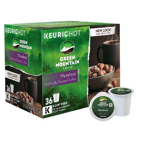 Keurig Green Mountain Coffee Hazelnut Light Roast Coffee K-Cups 36 ct ()