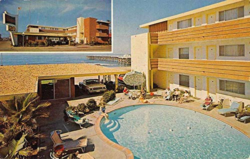 San Diego California Ocean Sands Motor Lodge Swimming Pool Postcard JE229283
