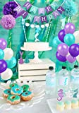 LUCK COLLECTION MermaidParty Supplies&PartyDecorations forGirlsBirthday party,Baby Shower, Bridal shower Decorations76 Pack