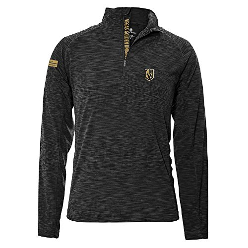 - Levelwear LEY9R NHL Vegas Golden Knights Men's Mobility Insignia Strong Style Quarter Zip Mid-Layer Apparel, X-Large, Charcoal