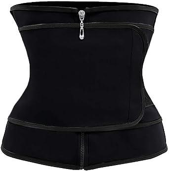 Chicme para entrenamiento de cintura Cors/é de neopreno para mujer con cremallera