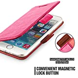 iPhone 6 Plus Case Wallet,Mulbess [Layered Dandy][Kickstand Feature][Hot Pink] - [Ultra Slim][Wallet Case] - Leather Flip Cover With Credit Card Slot for Apple iPhone 6s Plus 5.5 inch