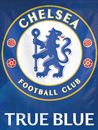 Chelsea Football Club True Blue Vertical Flag, 27 x 37 inches (2 Premier Sided Flag Banner)