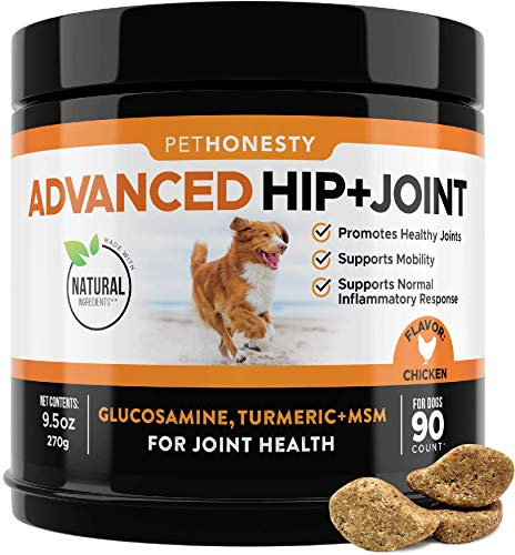 PetHonesty Advanced Hip & Joint – Dog Joint Supplement Support for Dogs with Glucosamine Chondroitin, MSM, Turmeric…