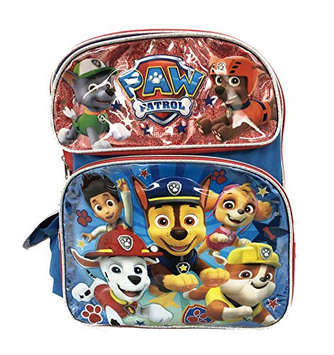 "Nickelodeon Paw Patrol Boys 12"" Toddler School Backpack Canvas Book Bag New USA"