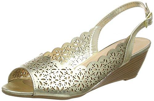 Dorothy Perkins Damen Roza Wedge Pumps Gold (Metallic)