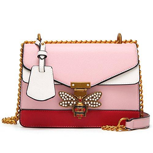 Abeille verrouille sacs à main pour les femmes Designer Tote Satchel Crossbody épaule Messenger Bag Pink