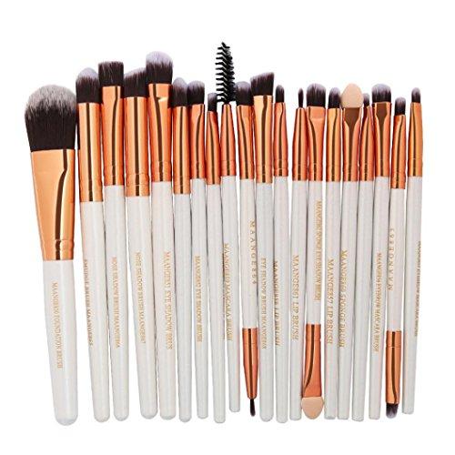 20 Pieces Makeup Brush Set, Staron Makeup Brushes Kit Foundation Face Eye Shadow Eyeliner Blush Lip Cosmetic Powder Cosmetics Blending Makeup Brush Tool (D)