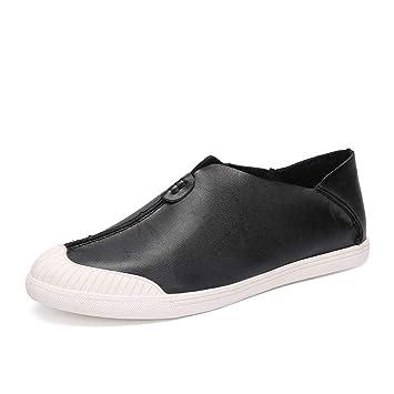 YAN Zapatos para Hombres, Mocasines de Cuero y Zapatillas sin Cordones Calzados Informales de Moda