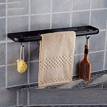 Barra de toalla El cobre Doble polo cuarto de baño negro retro ...