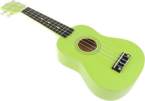 B Blesiya Juguete de Instrumento Musical Guitarra de 4 Cuerdas Juego de Aprendizaje Temprano para Niños - Verde: Amazon.es: Juguetes y juegos