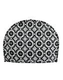 Home Decorative Cotton Creative Tea Cosy Indian Mandala Tea Cozies Tea Pot Cover Dark Blue Print Tea Cozy (Black & White +)