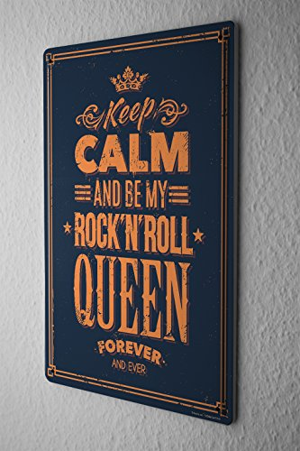 (LEotiE SINCE 2004 Tin Sign Metal Plate Decorative Sign Home Decor Plaques Fun Keep Calm Rock n Roll)