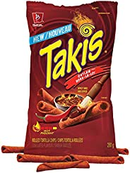 Takis Outlaw Spicy BBQ Rolled Tortilla Chips Loaded with Intense BBQ Flavour, Crunchy Corn Snack, 280 Grams