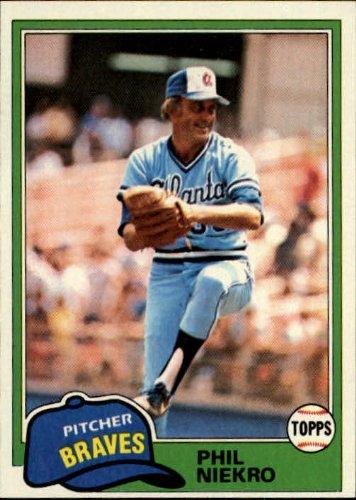1981 Topps Baseball Card #387 Phil Niekro