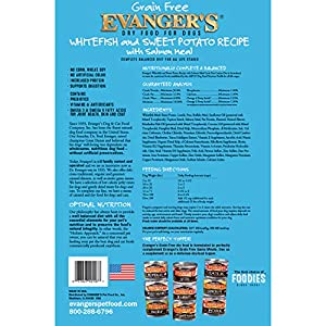 Evangers Low Grain Super Premium Whitefish And Sweet Potato Dry Dog Food, Large