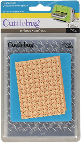 Cuttlebug A2 Embossing Folder, Houndstooth