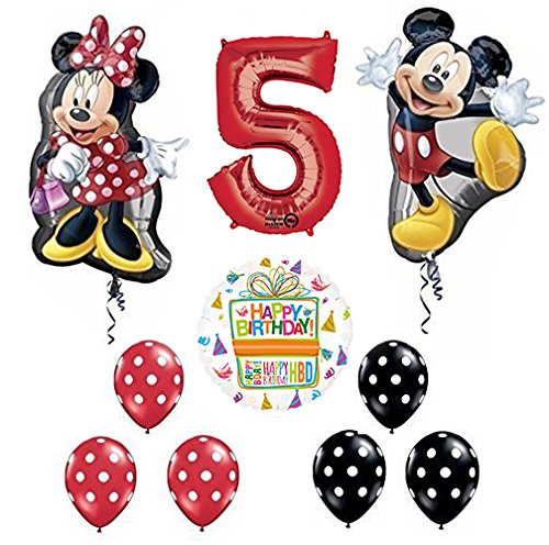 Mickey and Minnie Mouse Full Body 5th Birthday