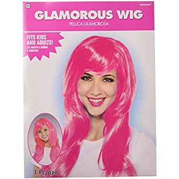 Amazon.com: Amscan Glamourous Party Wig Costume, Yellow ...