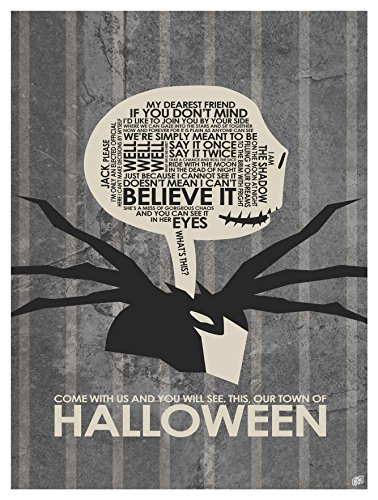 Our Town of Halloween Word Art Print Poster (9
