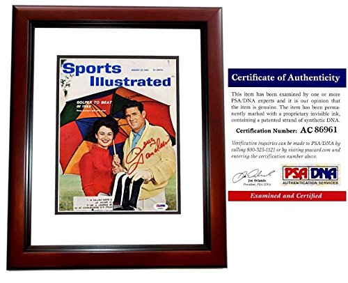 Doug Sanders Signed - Autographed Original 1962 Sports Illustrated Magazine MAHOGANY CUSTOM FRAME - PSA/DNA Certificate of Authenticity (COA)