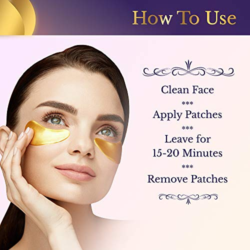 51f0VQcwt0L - VILLINI Under Eye Patches - 24K Gold Eye Mask - Anti-Aging Under Eye Pads - Eye Wrinkle Patches - Hydrogel Eye Treatment Mask for Puffy Eyes and Dark Circles - 15 Pairs